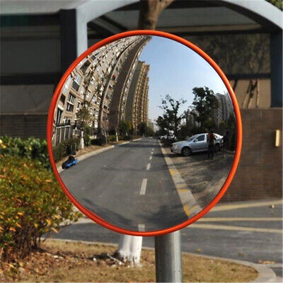 12 Wide Angle Security Curved Convex Road Mirror Traffic Driveway Parking 30cm