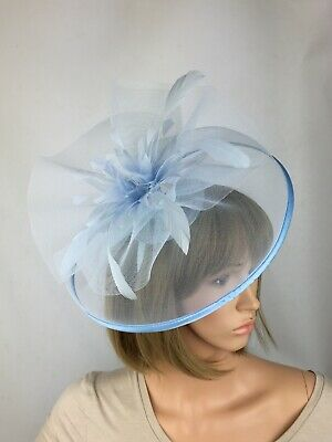 Ice Blue Pale Blue Baby Blue Light Blue Fascinator Wedding Occasion Races Hat