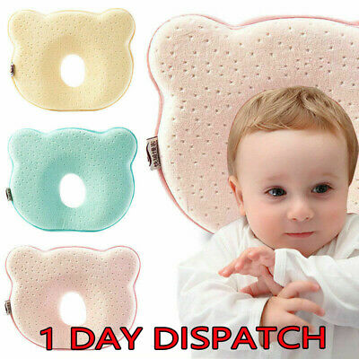 Baby Cot Pillow Newborn Infant Anti Flat Head Cushion for Crib Bed Neck Support✔