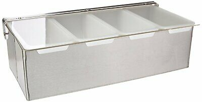 New Star 48025 Stainless Steel Condiment Dispenser With 4 Compartments