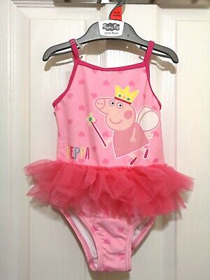 Girls Peppa Pig Swimming Costume 18-24 Months tutu swimsuit  NEW With Tags