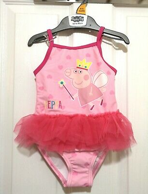 Girls Peppa Pig Swimming Costume 9-12 Months tutu swimsuit  NEW With Tags