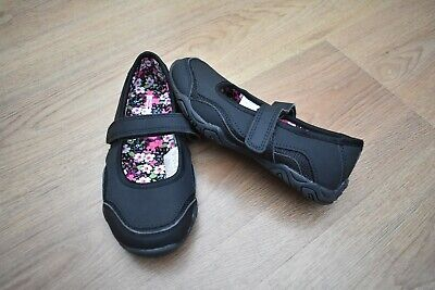 Girls Mountain Warehouse Size 12 Black School Shoes Trainers Eur 30.5