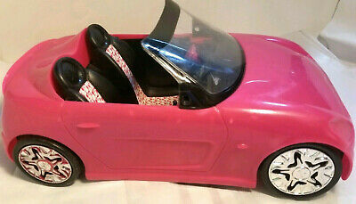 2010 Mattel Barbie Pink Glam Convertible Car compact cabrio rims Corvette sports