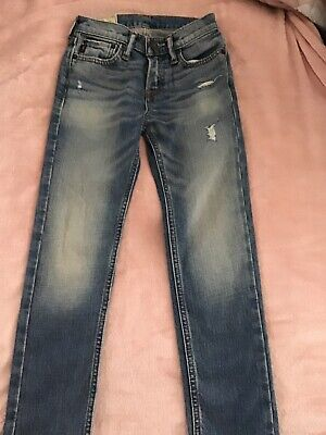 Boys Abercrombie Kids Distressed skinny Jeans Age 8 - Brand New Without Tags