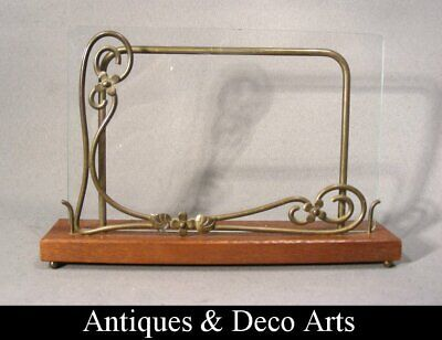 Art Nouveau Brass & Wood Picture- or Photo Frame