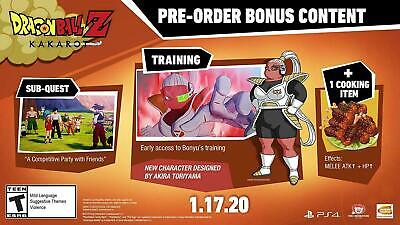 Dlc Code Pre Order Bonus Dragon Ball Z Kakarot Ps4 Only Dlc No Game