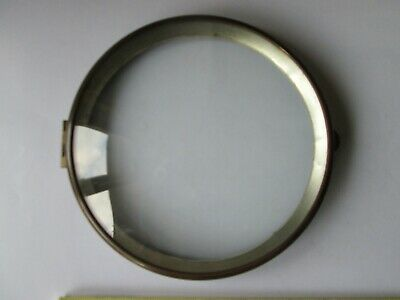Vintage Hinged Clock  Bezel With  Convex Glass.