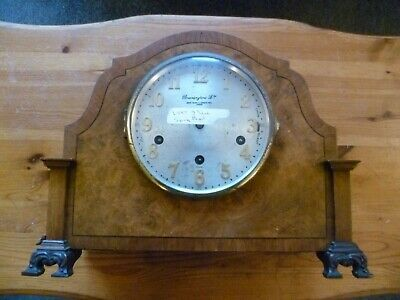 Vintage Bravingtons Mantle Clock for spares or repair