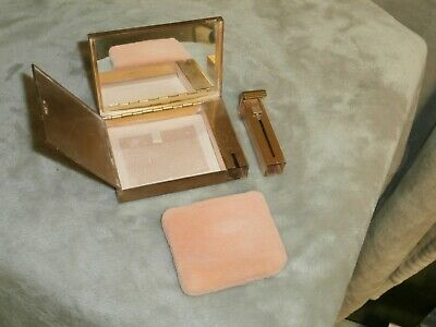 Vintage Volpute Mirrored Compact Powder and Lipstick Holder