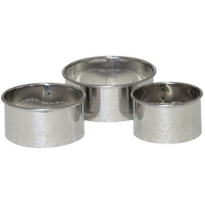 TALA PLAIN PASTRY CUTTERS Stainless Steel Set of 3 Tarts Mince Pies Quiches