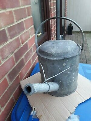 Vintage Galvanised 2 Gallon Watering Can With Screw Top For Rose Not Included