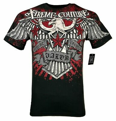 Xtreme Couture by Affliction Short Sleeve T-Shirt Mens SKY Black Red