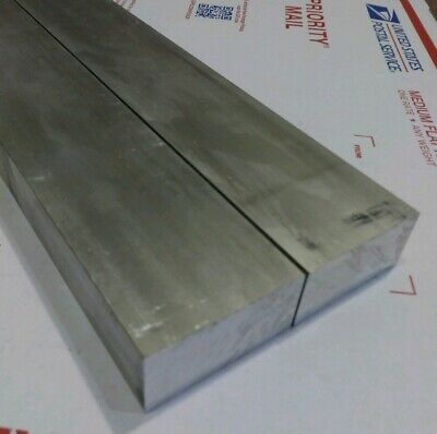 "2 pc 1"" X 2"" new 9"" long 6061 T6511 solid aluminum plate flat bar stock block"