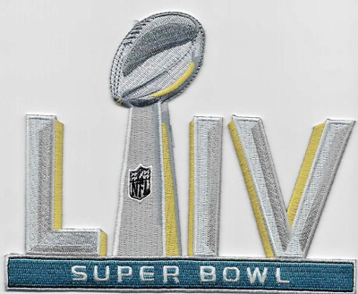 "SUPER BOWL 54 LIV Patch 5"" Embroidered Iron On Free Shipping"