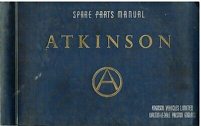 Atkinson T3046C Truck Chassis Original Factory Parts Catalogue