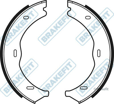 REAL IMAGE OF PART MINTEX REAR BRAKE SHOES SET FOR DAIHATSU TOYOTA MFR639