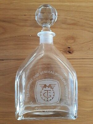 Vintage Transport & General Workers Union, Crystal Decanter 1989.