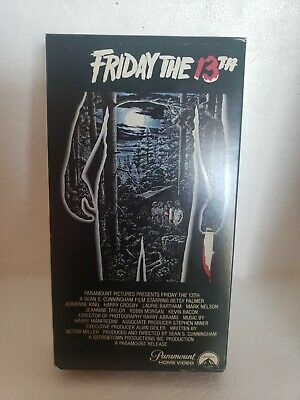 Friday the 13th (1980) Rare Vintage VHS Horror Cult Slasher Pre-owned