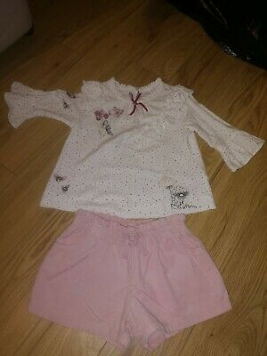 Next Girls Blouse And Shorts Outfit Age 3-4