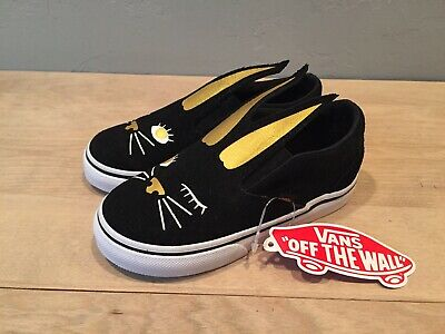 NEW VANS BLACKGOLD Bunny Rabbit Slip On Sneakers Toddler