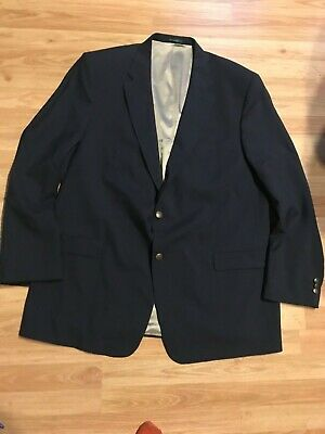 54X Palm Beach for Milbern Navy blue Suit jacket blazer big & tall Worsted Wool
