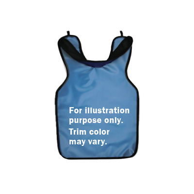 """Palmero 27-BLUE Child's Protectall .3mm Lead Apron with Collar 20"""" x 20"""" Blue"""