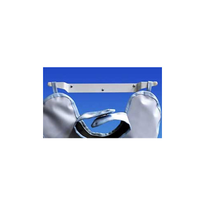 """Palmero 31 Economy Lead Apron Hanger White Coated Stainless Steel 15"""" x 2"""""""