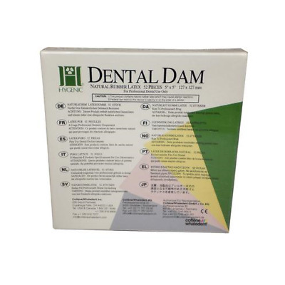 "Coltene Whaledent H00529 Hygenic Rubber Dental Dam 5"" X 5"" Medium Dark 52/Bx"