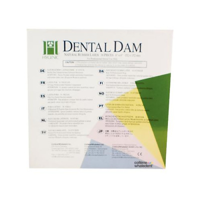 "Coltene H00536 Hygenic Rubber Dental Dam 6""X6"" Extra Heavy Light 36/Bx"