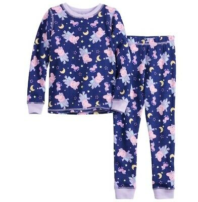 Girls Peppa Pig Thermal Cuddl Duds 2 piece Long Underwear Layers 4T 5T NIP