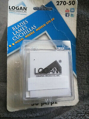 Logan Graphic Products 270 Replacement Mat Cutter Blades ~ 50 pack