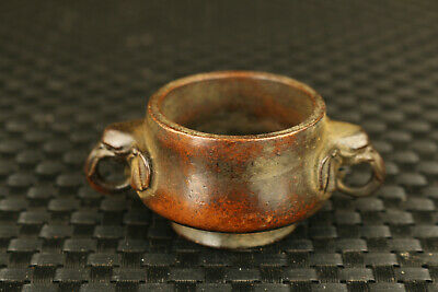 unique Chinese old bronze hand cast dargon collectable wine glass cup decor gift