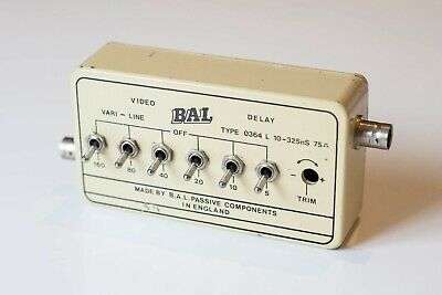 BAL Video Delay Type 0364 10-325nS 75 Ohm