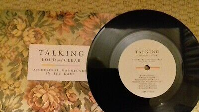 """Orchestral Manoeuvres In The Dark """"Talking Loud & Clear"""" 7"""" synth-pop single"""