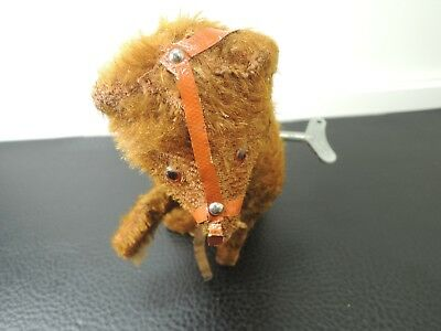 Antique Wind Up Toy Brown Bear West Germany Original