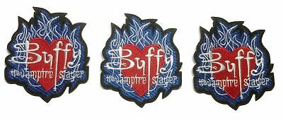 Buffy The Vampire Slayer Logo Embroidered Iron on Patch Set of 3