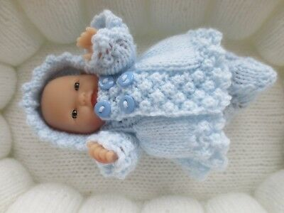 "Hand Knitted 5"" Chubby berenguer Baby Doll Set."