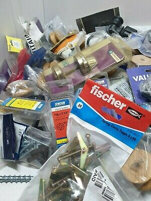 100 x Bagged DIY Hardware Plumbing Items Assorted Joblot For Resale Carboots