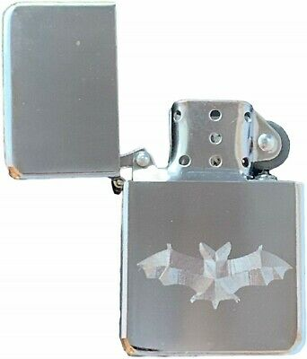 Emblems-Gifts Personalised Bat Silver Colour Star Petrol Lighter (T18)