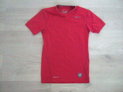 Boys Nike Pro Combat red compression top size S
