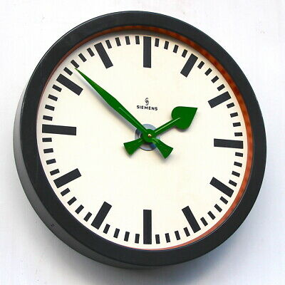 LARGE 1960s West German Midcentury Vintage Retro Industrial Factory Wall Clock