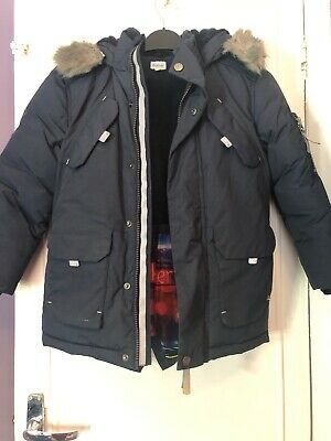 Ted Baker Navy Boys Winter Coat Age 7 Very Good Condition