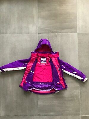 Nevica Girls Ski Jacket Winter Coat Age 9/10 years Purple, pink and white