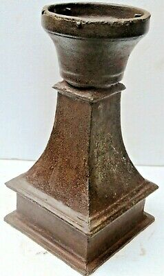 VICTORIAN ERA CAST IRON LAMP POST Light Pole square base design newel Decor Part