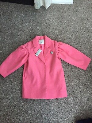 Girls Soft River Island pink Coat Age 6 Years Brand New With Tag