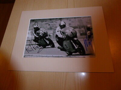 Giacomo Agostini & Phil Read MotoGP Superbike Italy mounted photograph