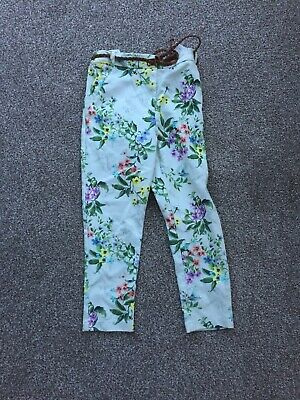Girls Next Flowered Trousers Age 7 Years
