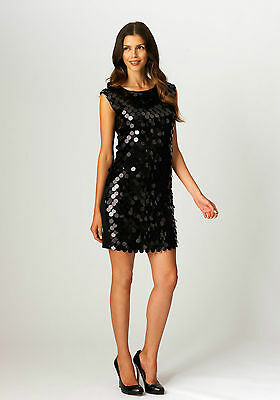 CINCH CLOTHING BACKS BLACK SEQUINS DRESS CLIP GOLD or SILVER CLIPS