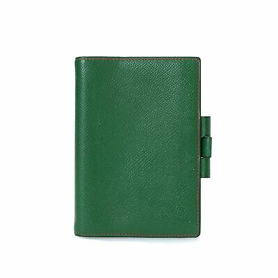 Preloved Hermes Agenda Cover PM GREEN 100% Authentic with AB RATING